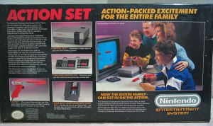 NES Action set box rear