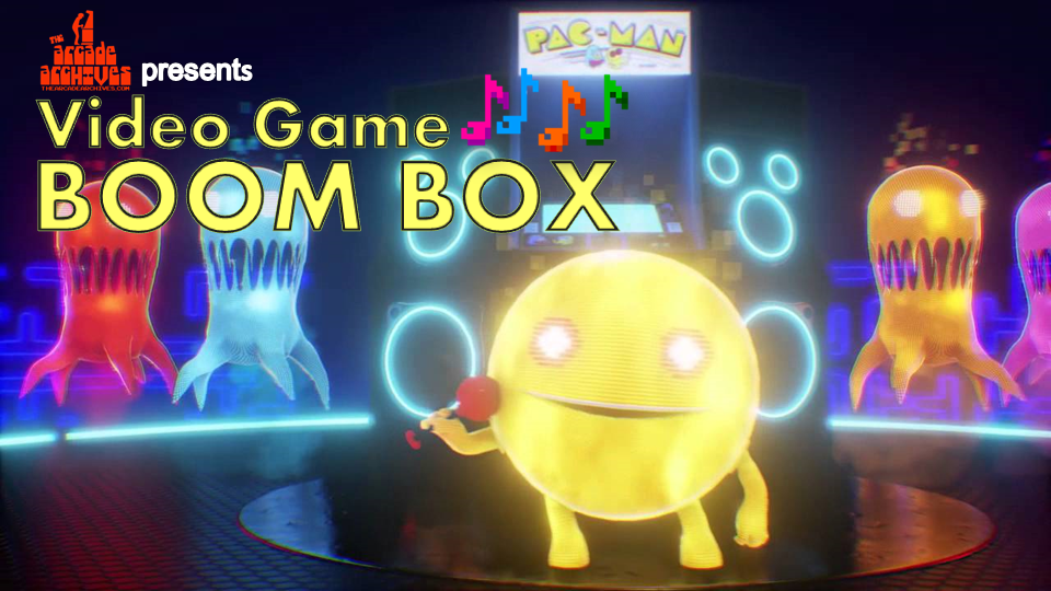 Pacman Video Game BoomBox logo