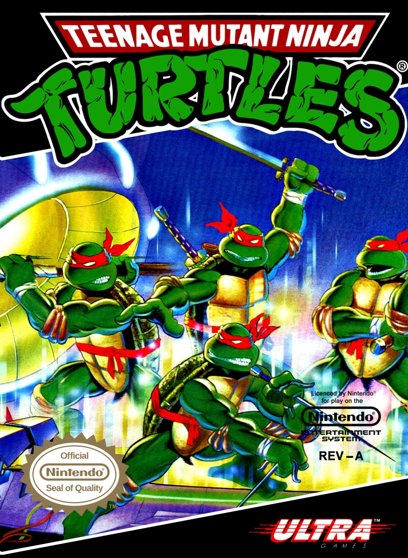 TMNT NES Box Cover