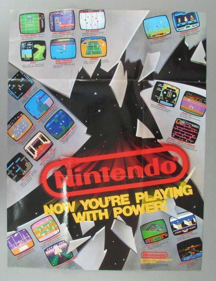 NES Plsying With Power Poster