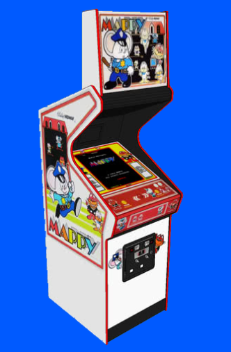 Bally//Midway Cab Mappy Arcade Marquee