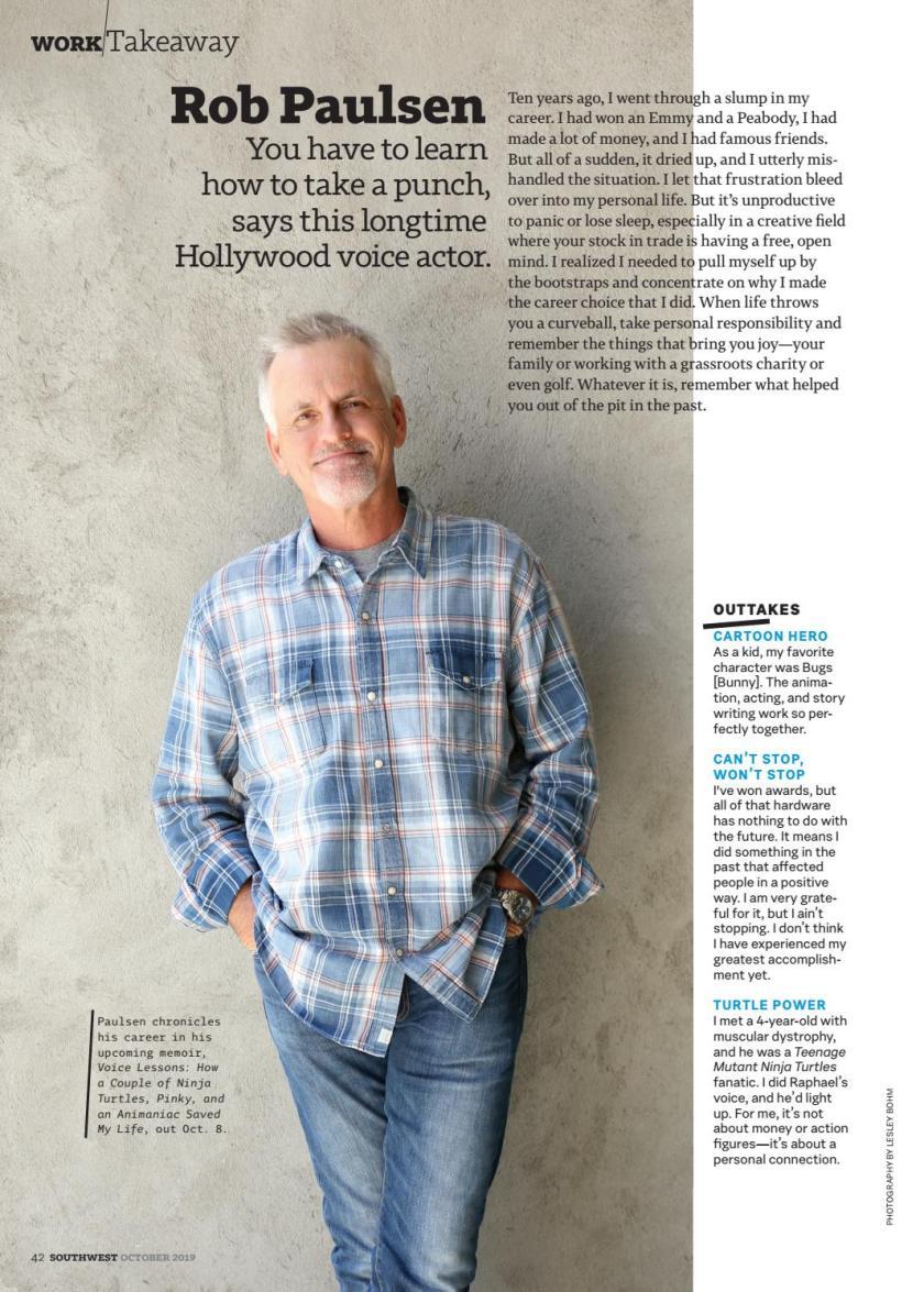 Southwest The Magazine October 2019 Rob Paulsen
