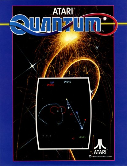 Quantum is a RARE Atari arcade game by GCC where you circle objects on the screen for points. You could even write your name in the high score!