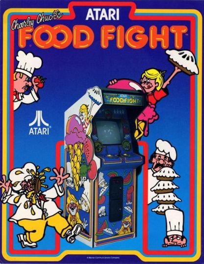 Food Fight was an Amazing game from Atari and GCC.